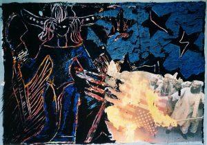 Astarte I, Mischtechnik (Gouache oder Acryl) a. Papier, 2010