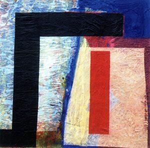 Winterreise - Jeder Strom wird's Meer gewinnen 80x80 cm, Acryl, Collage auf Holz, 2006