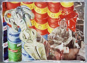Astarte III, 60x80 cm, Gouache u. Collage a. Papier a. Holz, 2011