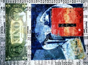 broker, ca. 42x55 cm, i. R. 60x80 cm,Mischtechnik a. Papier, ca. 2003
