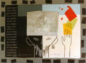 Lieber Hans-Gerd-Hunold (1), 60x80 cm, Mischtechnik a. Papier i. R., 1996