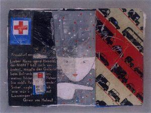 Lieber Hans-Gerd-Hunold (2), 60x80 cm, Acryl, Assemblage a. Holz 1998