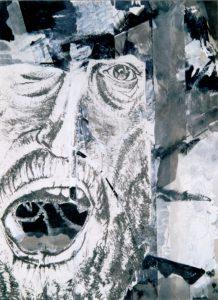 Schrei (2), ca. 23x30 cm, Radierung, Grafisch bearbeitet ca 1974/2007