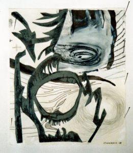 Schrei (3) 20x24 cm Radierung, Grafisch bearbeitet ca.1974/2008