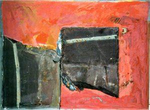Exodus II Die Tafeln, 80x60 cm, Gouache, Schiefer a. Papier a. Holz, 2015