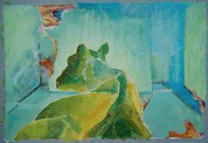 Gefährliche Lage, 70x50 cm, (80x60 cm) P.p.,, Gouache a. Papier, 2013/14