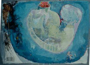 Selected, 80x60 cm, Gouache, Tang a. Papier a. Holz, 2013