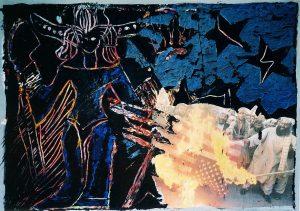 Astarte I,Mischtechnik (Gouache oder Acryl) a. Papier,2010
