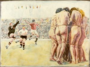Das Wunder von Bern, 30x40cm , i.R., 40x50cm, Aquarell, 1983