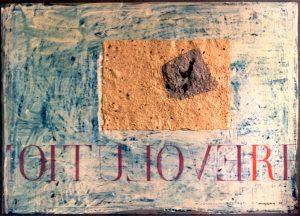Aufbruch ca. 60x80 cm Handgesch. Papier, Acryl 1995?