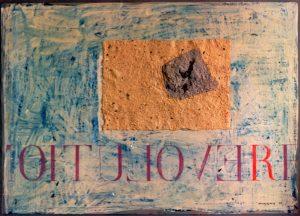Aufbruch ca. 60x80 cm Handgesch. Papier, Acryl 1995
