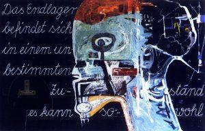 Schrödingers Katze, ca. 140x200cm, Mischtechnik 1987