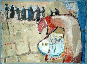 Gaia, 80x60 cm, Gouache, Collage a.Papier a. Holz, ca. 2012