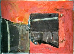 Die Tafeln80x60 cmGouache, Schiefer a. Papier a. Holz, 2015