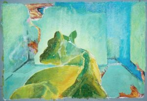 Gefährliche Lage, 70x50 cm , Gouache a. Papier, 2013/14